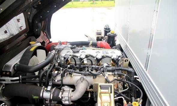 该车搭载云内动力yn36qne燃气发动机,最大输出功率为115马力,最大
