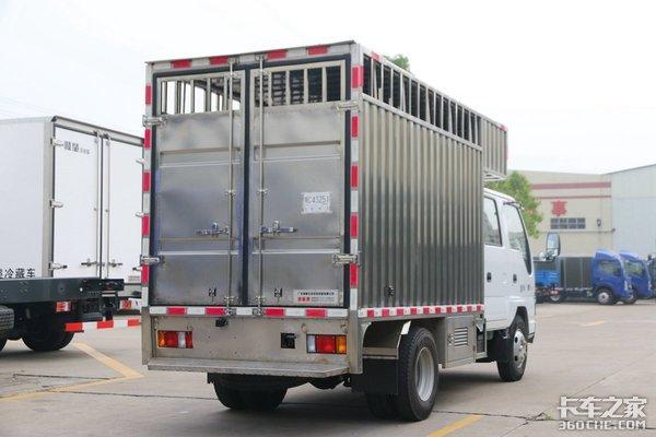 304不锈钢车厢顺肇鲜活水产运输车图解