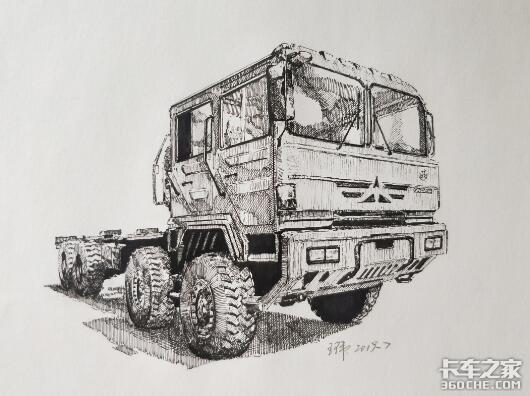 卡车素描图片素材