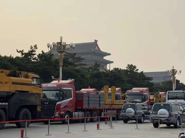 深藏功与名阅兵场上的保障卡车有哪些