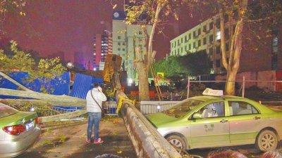 25吨大吊车有大臂展!几十米大手砸小车