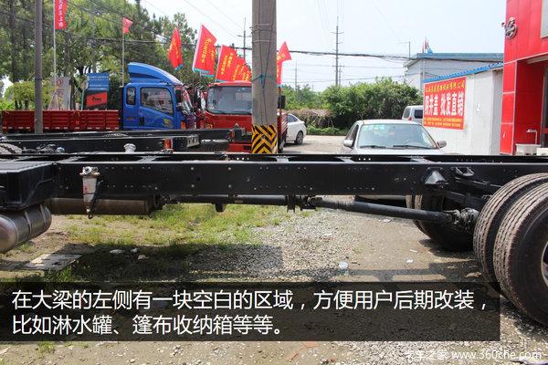 单车配750L油箱乘龙推6X2单边快递车型