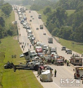 美国汽车相撞9人死亡