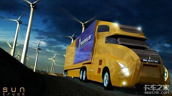 太阳能和风能发电卡车