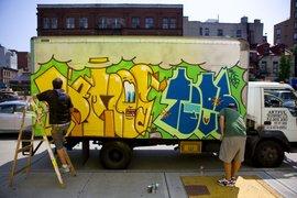 巴西艺术家卡车上涂鸦