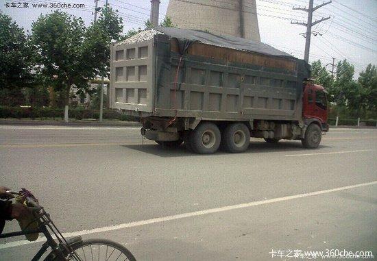 新密境内查大吨位货车