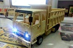 收官之作!绝美竹筷车模之CA151自卸车