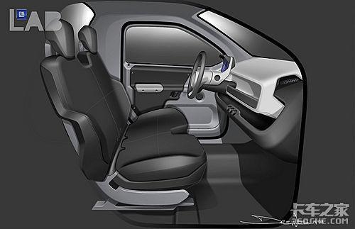 通用GMC推出概念卡车两排座椅双门设计