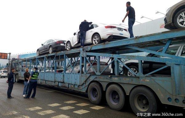 轿运车司机红了眼:乱罚款到底有人管吗?