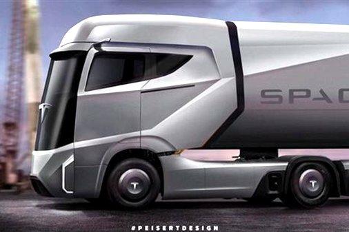 电池超100kWh 特斯拉电动卡车外形曝光