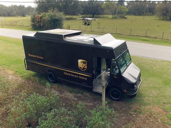 最后一英里靠谁UPS测试车载无人机送货