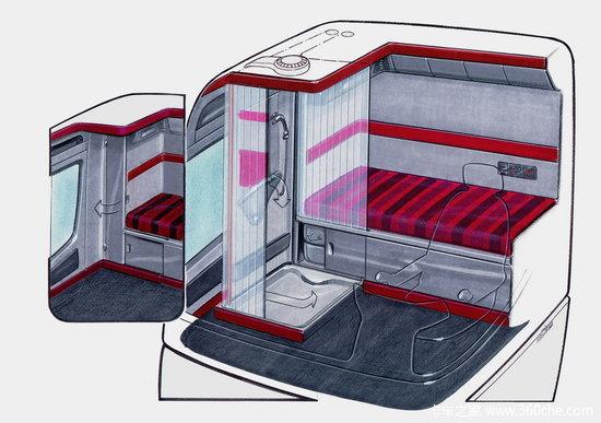 奔驰卡车空间概念设计
