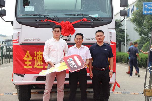 中集瑞江200台搅拌车陆续交东南亚客户