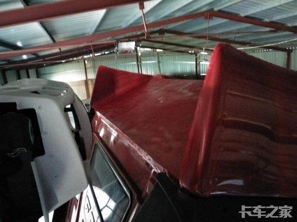 JH6高顶驾驶室改装切割一个角装制冷机