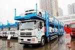 轻松装8台三厢车 东风天锦中置轴轿运车