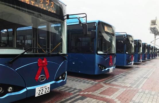 比亚迪再次向日本交付纯电动巴士车队!