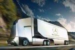 外媒:奔驰旗下无人驾驶卡车Euro-X曝光