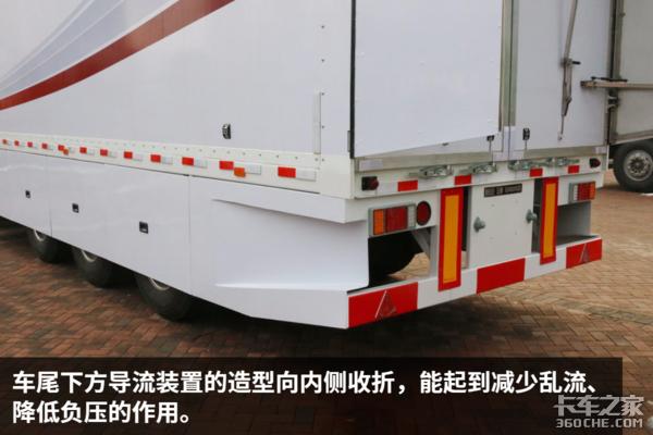 一年节省15000元重汽推出低风阻半挂车