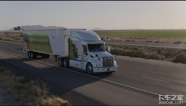 图森在美发布与彼得比尔特自动驾驶卡车