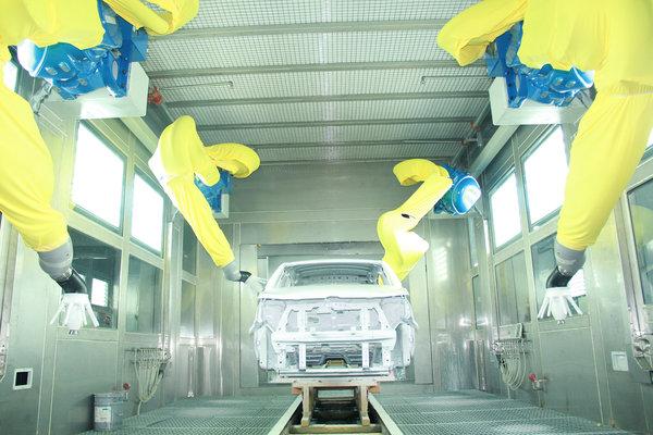 唐骏汽车省内率先使用环保型水性涂料