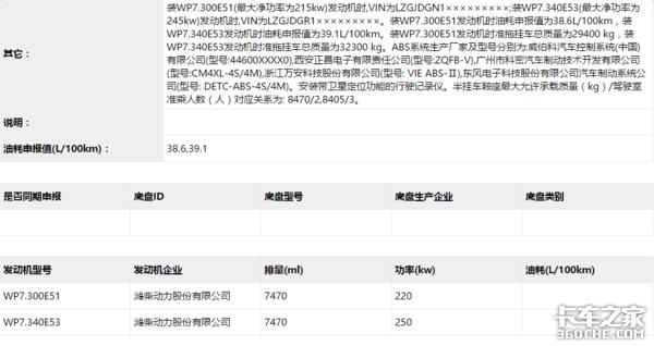 搭载潍柴7L机 陕汽新M3000轿运车上通知布告