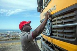 南非老外也爱它!东风天龙KC自卸车实拍