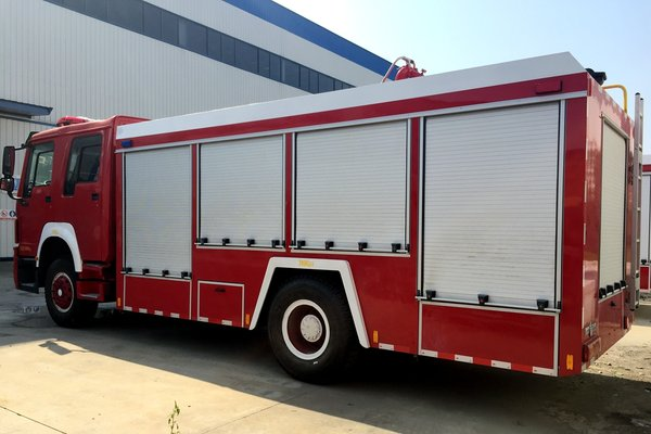 程力消防车重汽280马力10升机!真给力