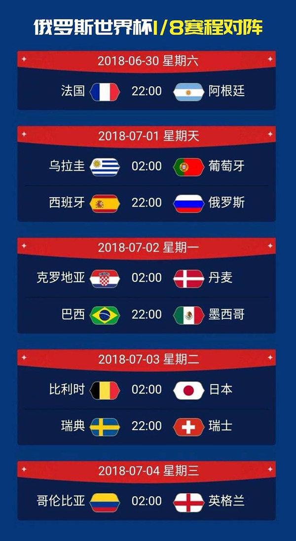 内有福利|世界杯即将进入1/8决赛,Pick出您心中的八强球队!!