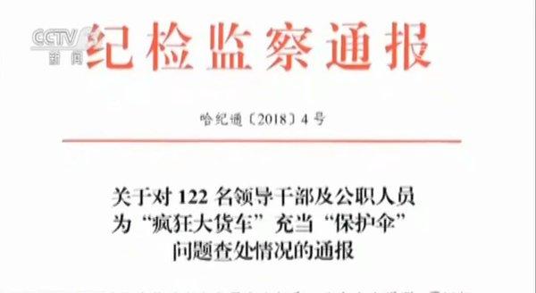 打击保车团伙哈尔滨122名交警被查!