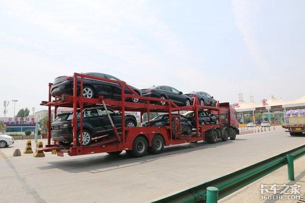 超长轿运车禁上高速西安执法很严格!