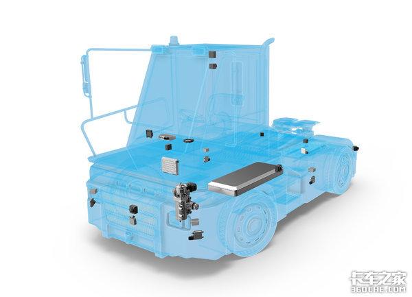 采埃孚两款重卡不用司机就能装卸货厢