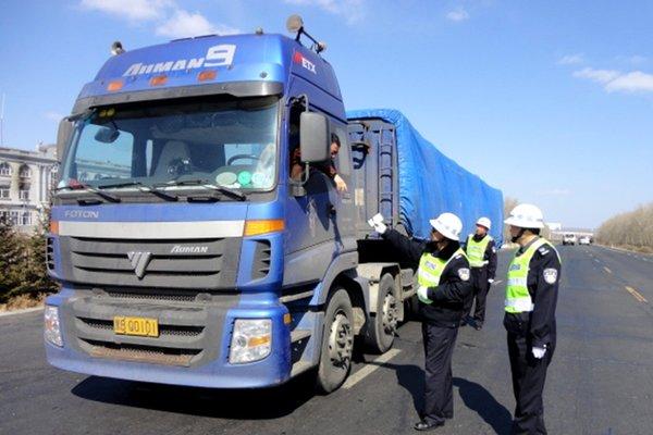 聊城:查处超限车1472台卸载货物8万吨