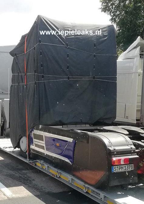 后视镜竟然被取消!奔驰全新Actros在去汉诺威的路上被偷拍