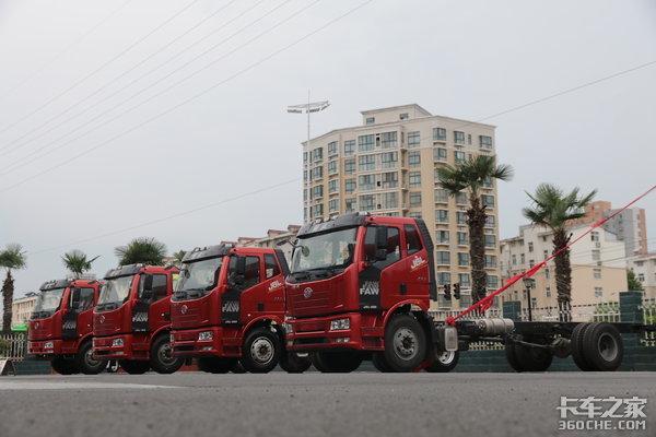 贺一汽厂庆65载解放冷藏专用车炎炎夏日送清凉