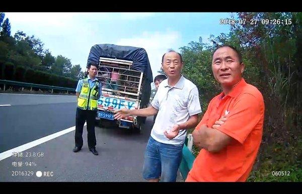 """货车厢秒变""""动物园""""司机非法运输野生动物被逮"""