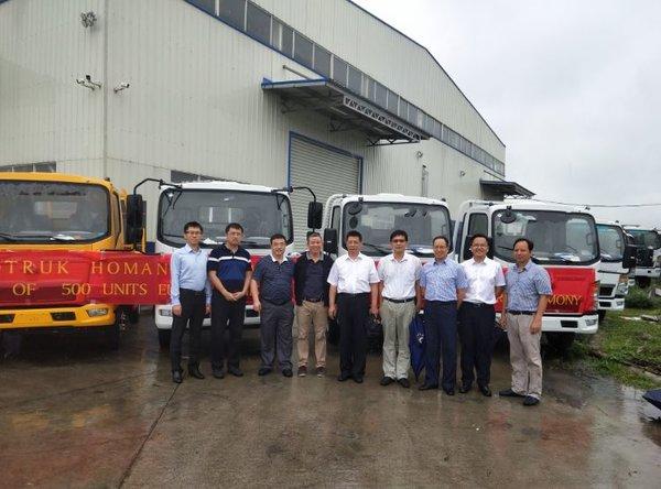 中国重汽500台产品交付海外经销商再获追加大单