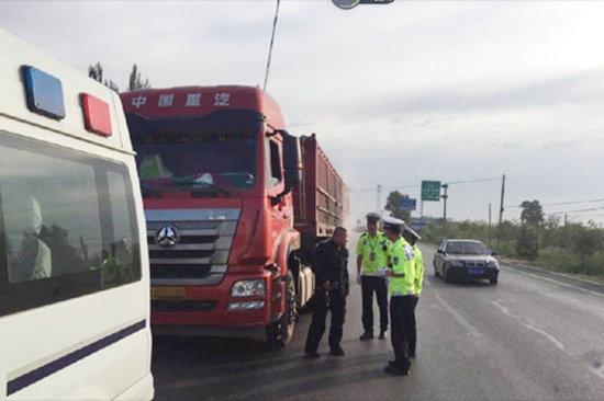 沈陽7月份以來查處貨車交通違法2658件
