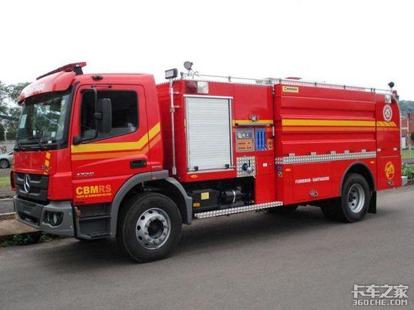 搭载艾里逊变速箱美国采购奔驰消防车
