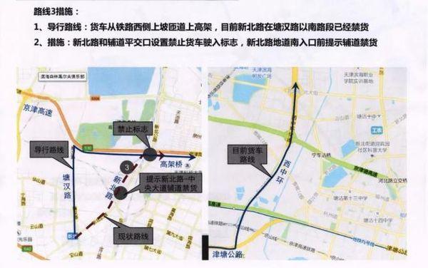 天津:该路段24小时禁止中重型货车通行