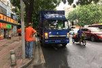 广州市交通事故 货车撞电单车骑手死亡