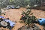 洪灾当前:寿光一村干部开卡车驶向洪水