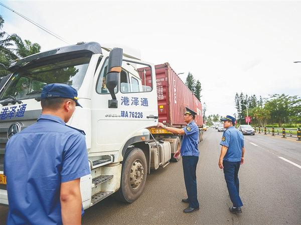 海南省货车超载违法大查处看看有你的车吗