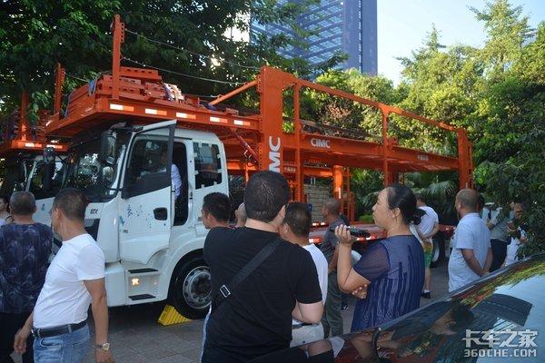 百台新欧曼ETX中置轴轿运车成功交付