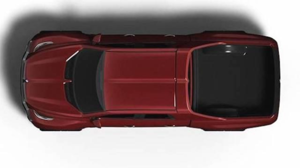 宝马皮卡车型渲染图曝光造型相当粗犷
