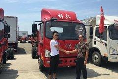 南充传化汽贸城J6F载货车成功交付客户