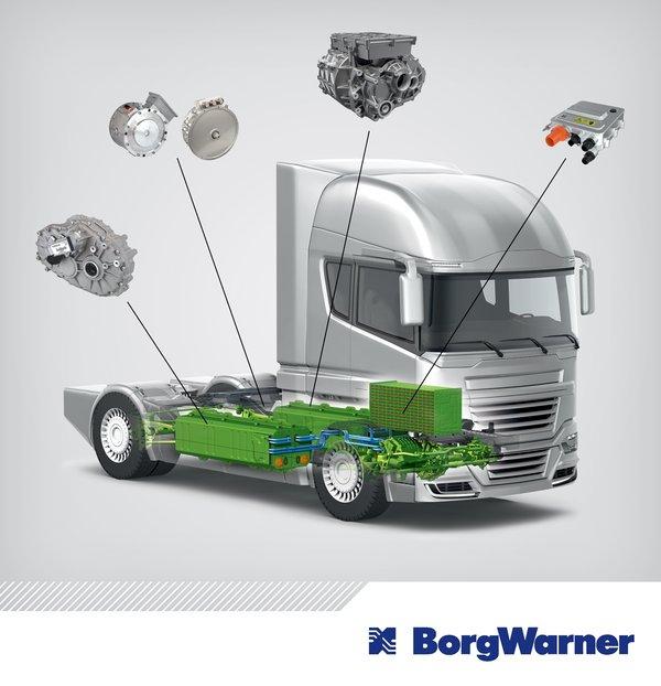 提供全套货车电驱动解决方案博格华纳多项技术将亮相IAA
