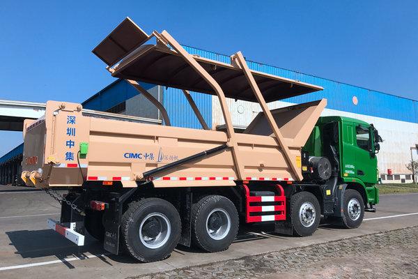 中集推出LNG智能渣土车满足环保、封闭等要求