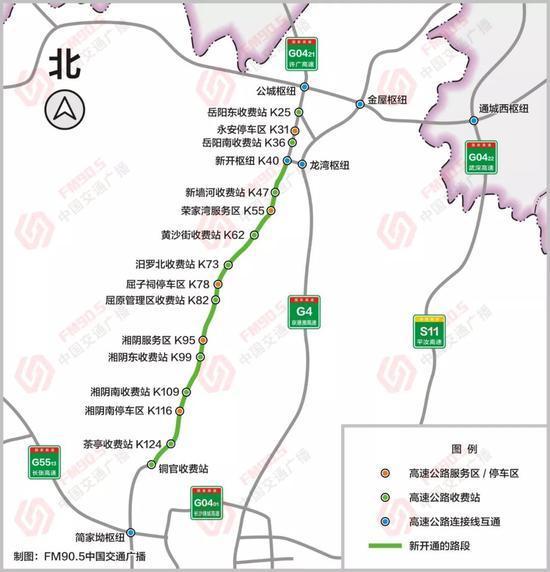 终于开通了!G0421许广高速岳阳到望城段试运营十一不用挤G4啦