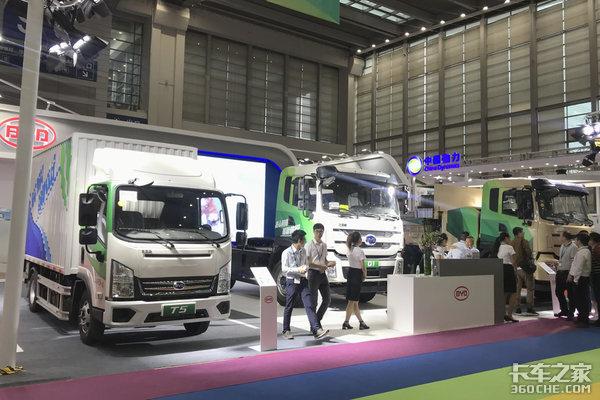 电动卡车覆盖多领域比亚迪亮相物博会