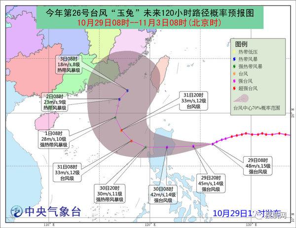 台风玉兔周末或袭华南出货要抓紧时间